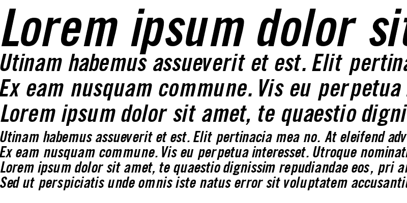 Sample of CommerceBlackCondSSK Italic