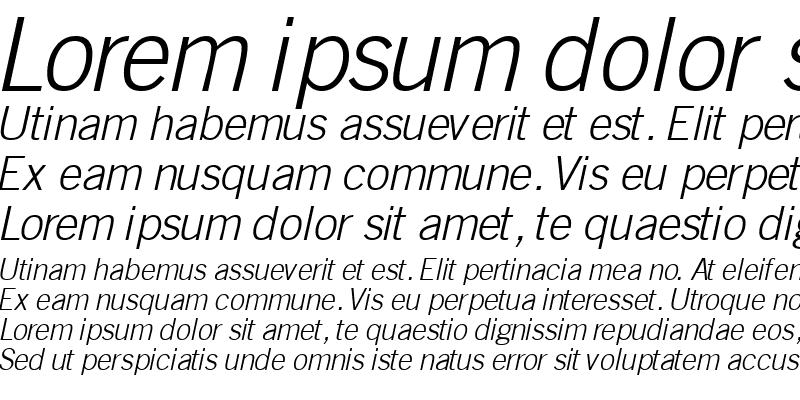 Sample of CommerceLightSSK Italic