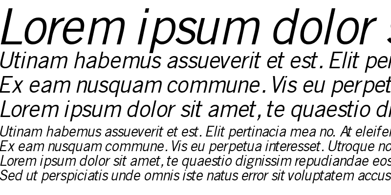 Sample of CommerceSSK Italic