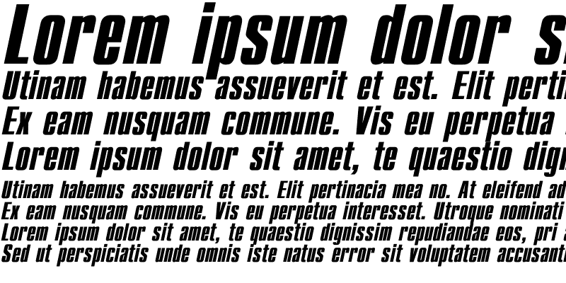 Sample of Compact Bold Italic