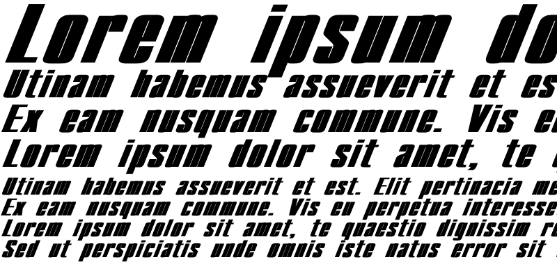 Sample of Compact Ex Bold Italic