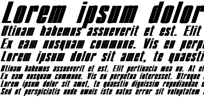 Sample of Compact Wd Bold Italic