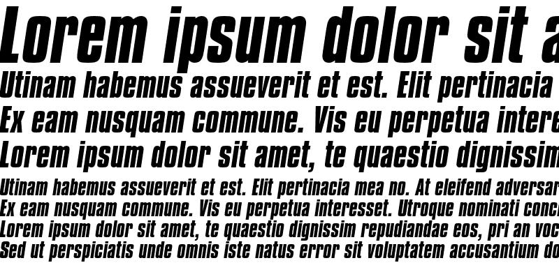 Sample of Compacta Bold Italic
