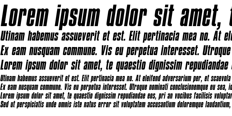 Sample of Compacta ICG Italic