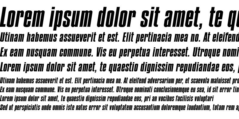 Sample of Compacta Italic Regular