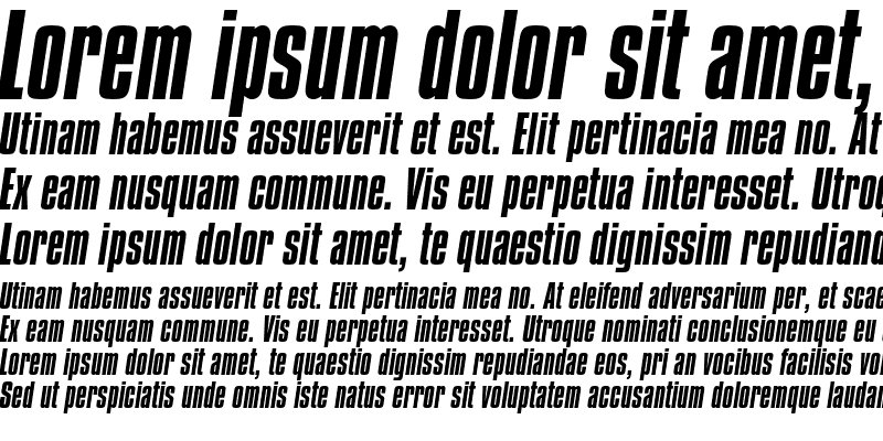 Sample of Compacta Italic