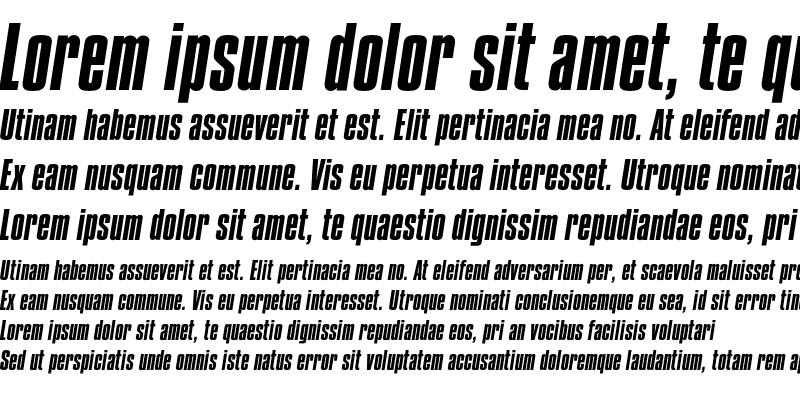 Sample of Compacta Std Italic