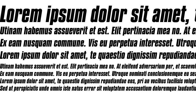Sample of CompactaEF Bold Italic
