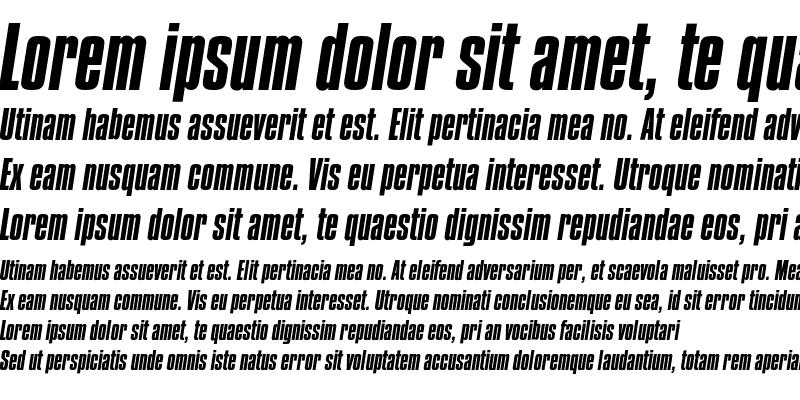 Sample of CompactaEF Regular Italic