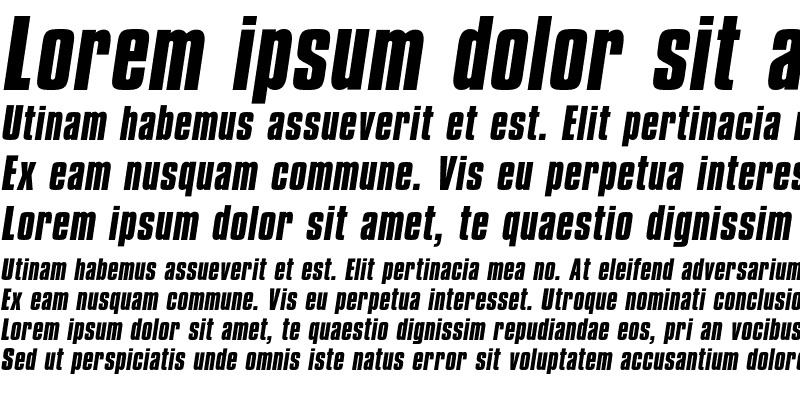 Sample of CompactaICG Bold Italic