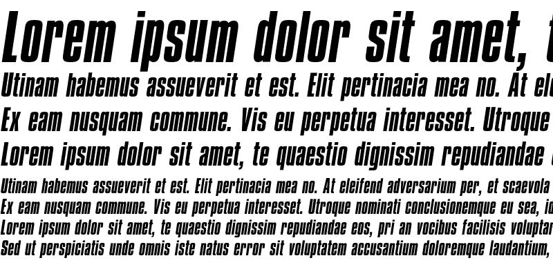 Sample of CompactaICG Italic