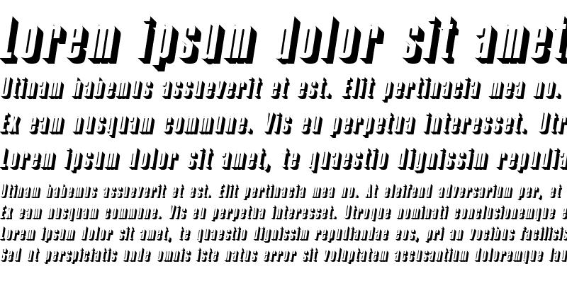 Sample of CompactaOnlShaDReg Italic