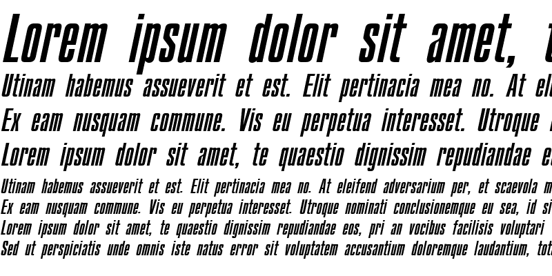 Sample of CompactCTT Italic
