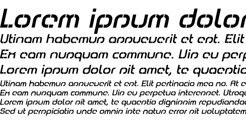 Sample of Comsat Box Italic
