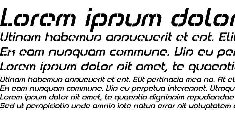 Sample of Comsat Italic