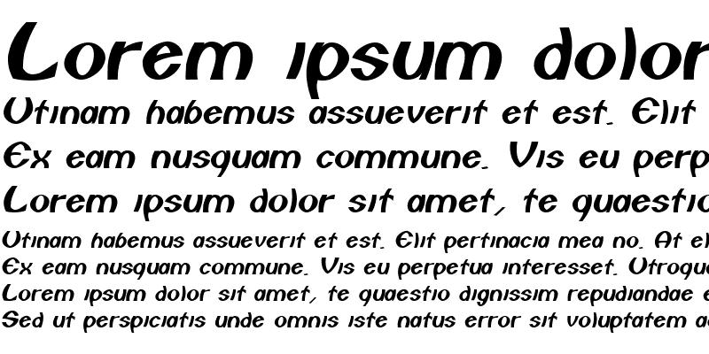 Sample of Comstare Italic