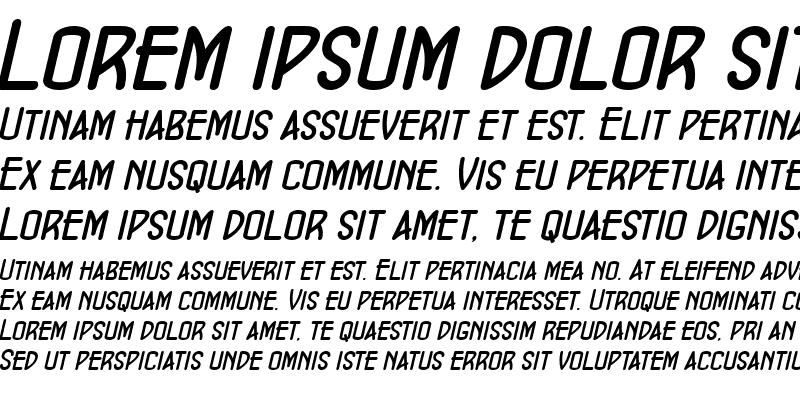 Sample of ConcursoModerne BTN BoldOblique
