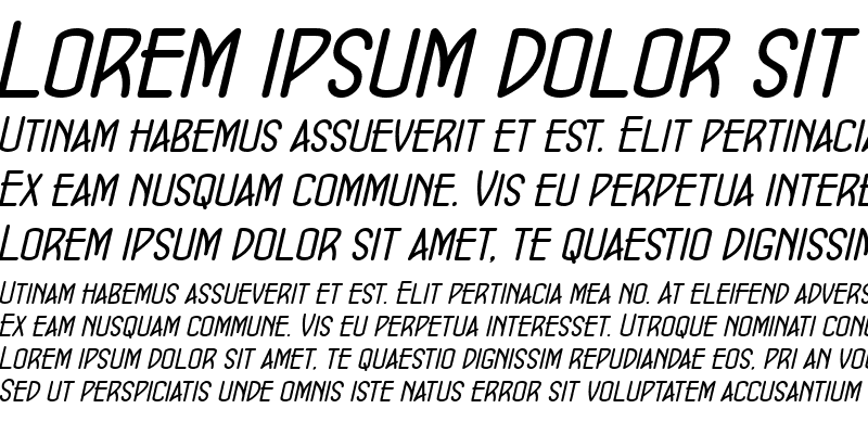 Sample of ConcursoModerne BTN Oblique