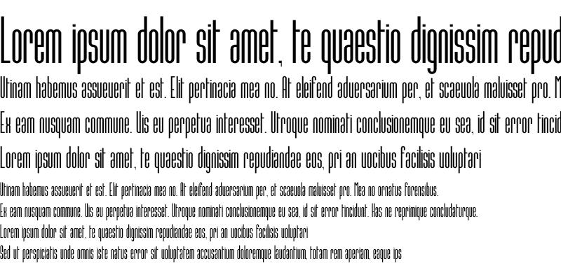 Sample of Conde Sans