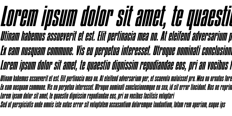 Sample of Condens Bold Italic