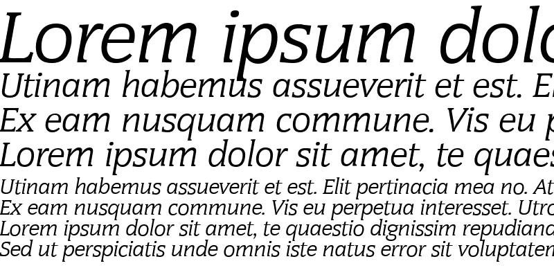 Sample of CongressSerial Italic