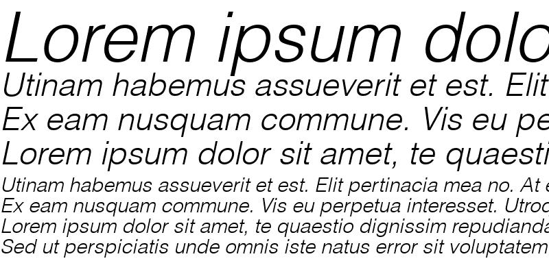 Sample of Context Light SSi Light Italic