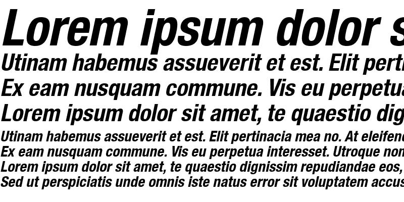 Sample of Context Reprise Condensed SSi Bold Condensed Italic