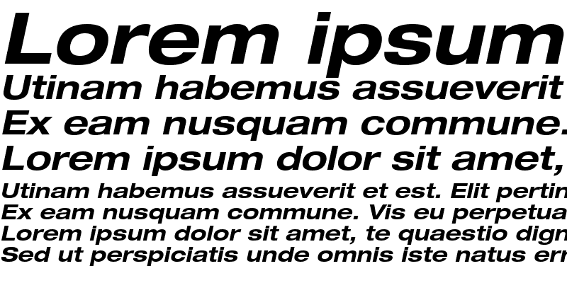 Sample of Context Reprise Expanded SSi Bold Expanded Italic