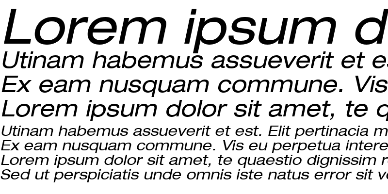 Sample of Context Reprise Expanded SSi Expanded Italic