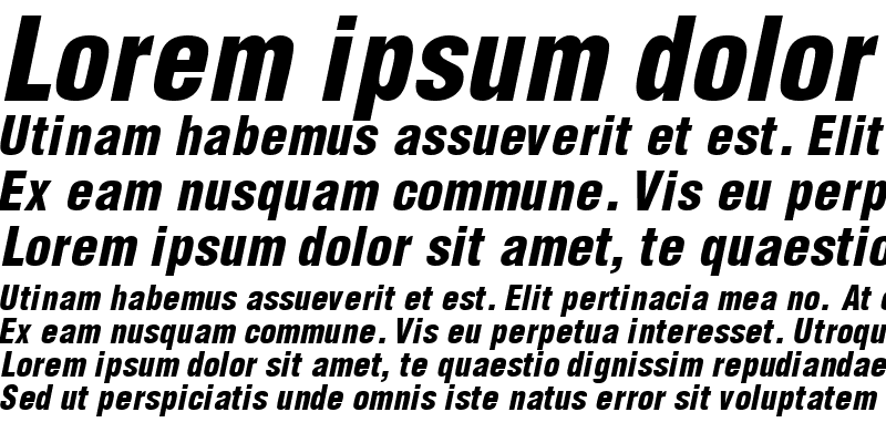 Sample of ContextBlackCondSSK Italic