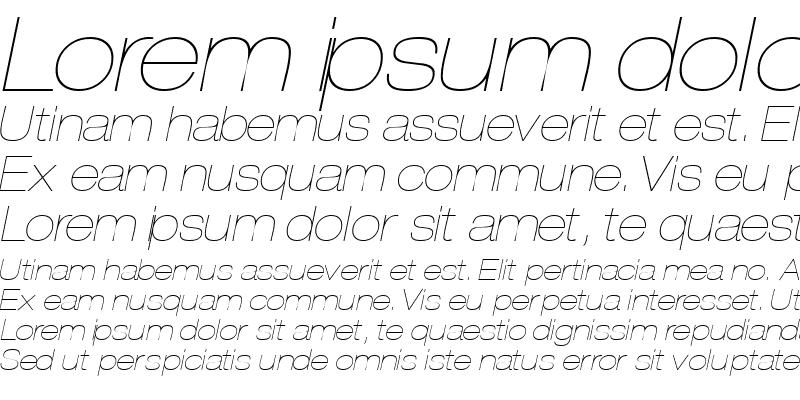 Sample of ContextRepriseLightExpSSK Italic