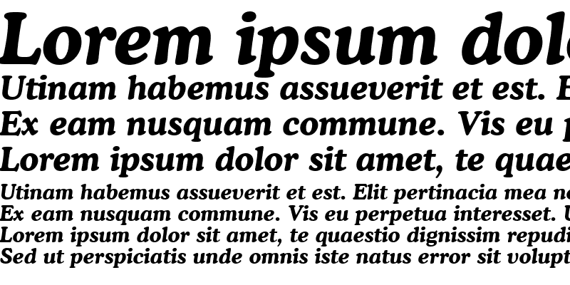 Sample of Cooper Lt BT Bold Italic
