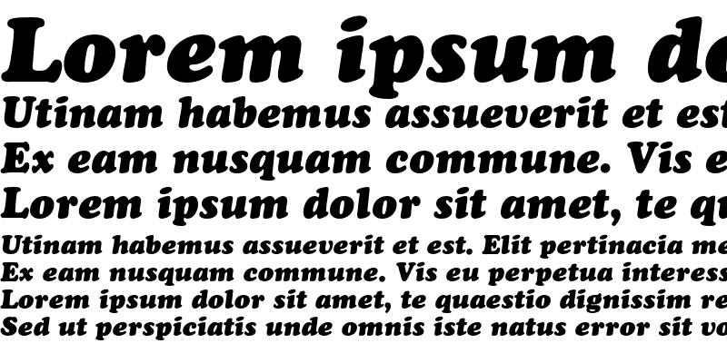 Sample of Cooper Std Black Italic