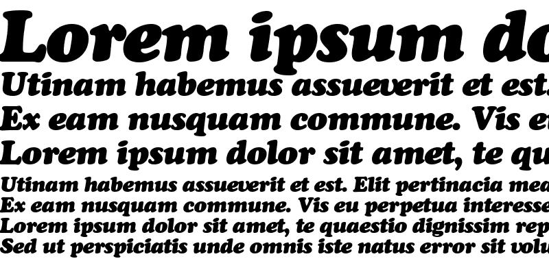 Sample of Cooper_Black-Italic Regular