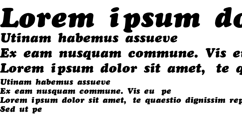 Sample of CooperBlack-Thin-Italic Regular