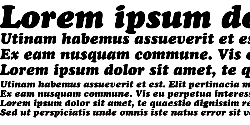 Sample of CooperBlackC BT Italic