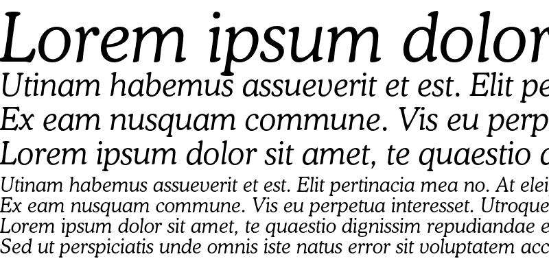 Sample of CooperLightC BT Italic