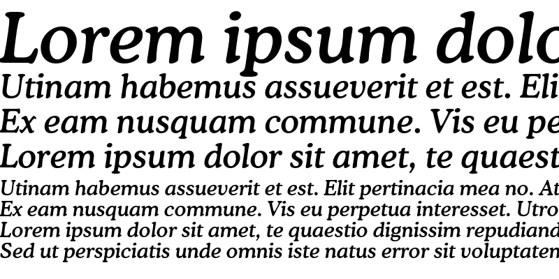 Sample of CooperMediumC BT Italic