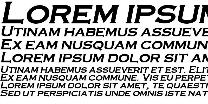Sample of CopperPlate Bold-Italic