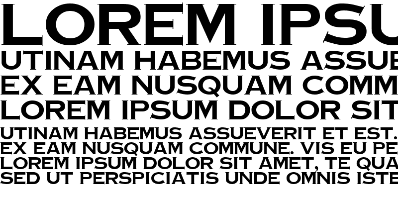 Sample of Copperplate Bold