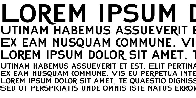 Sample of Copperplate Classic Sans Plus Regular