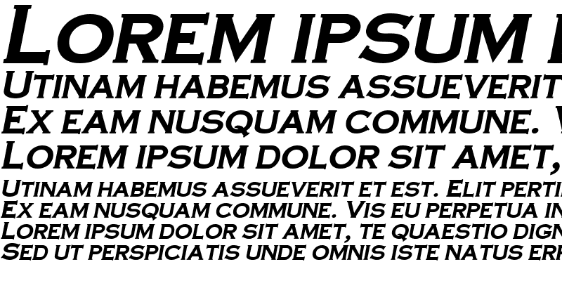 Sample of CopperPlate-Cond Bold-Italic