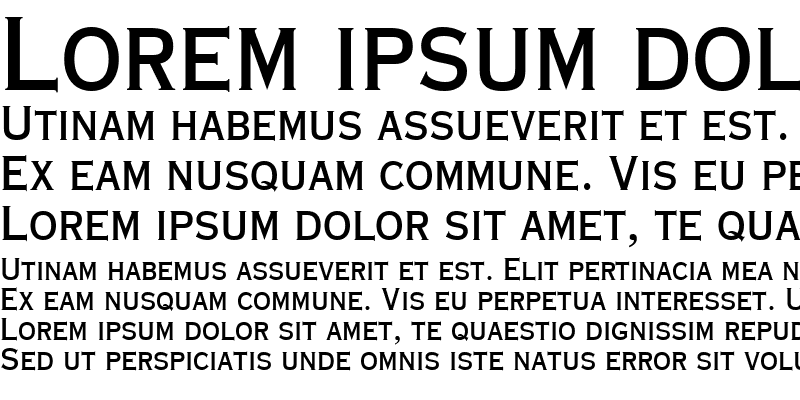 Sample of Copperplate Condensed SSi Bold Condensed