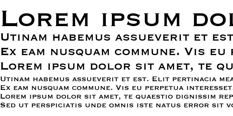 Sample of Copperplate Condensed SSi Condensed