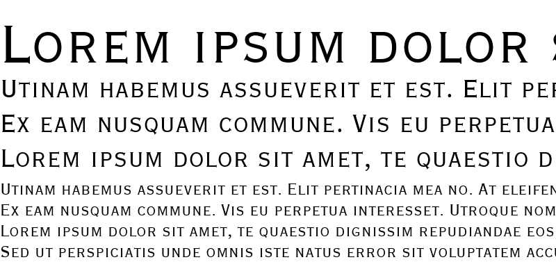 Sample of Copperplate Extra Condensed SSi Extra Condensed