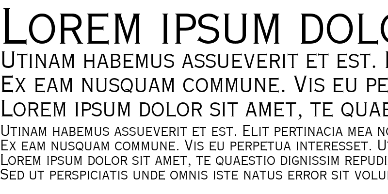 Sample of Copperplate Light Condensed SSi
