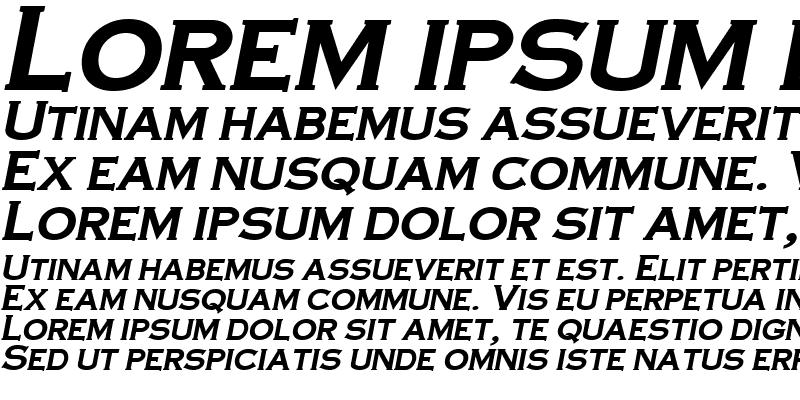 Sample of CopperPlateCondensed Bold-Italic
