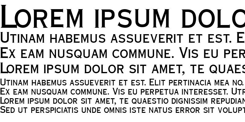 Sample of CopperplateCondSCapsSSK Bold