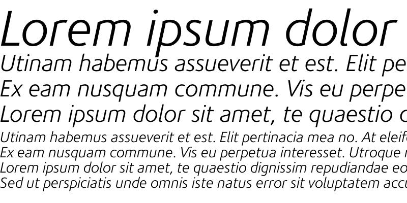 Sample of CorisandeLight Italic