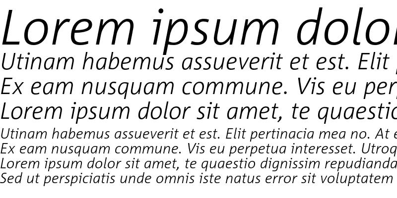 Sample of Corpid Light Italic